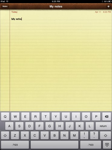 mynotes-for-ipad