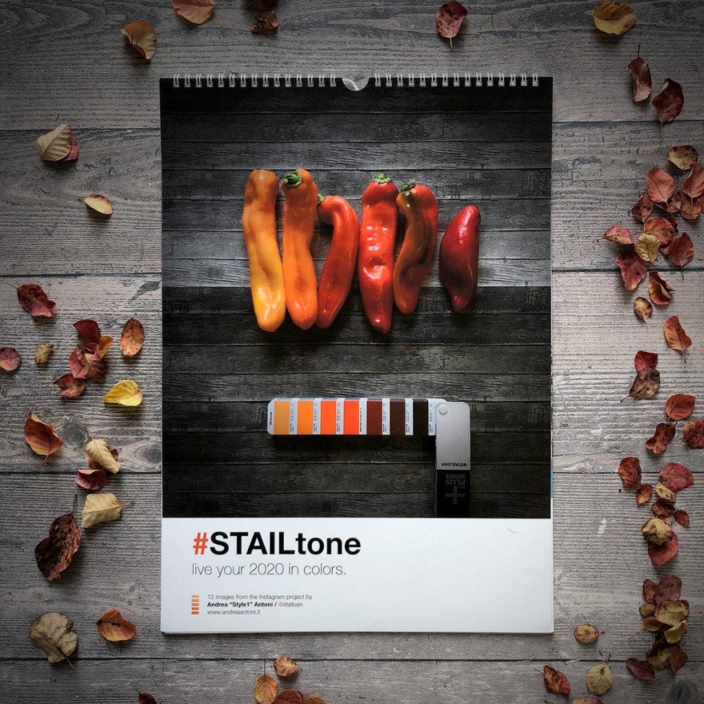 """Calendario da parete 2020 legato al progetto instagram STAILtone, di Andrea """"Style1"""" Antoni."""
